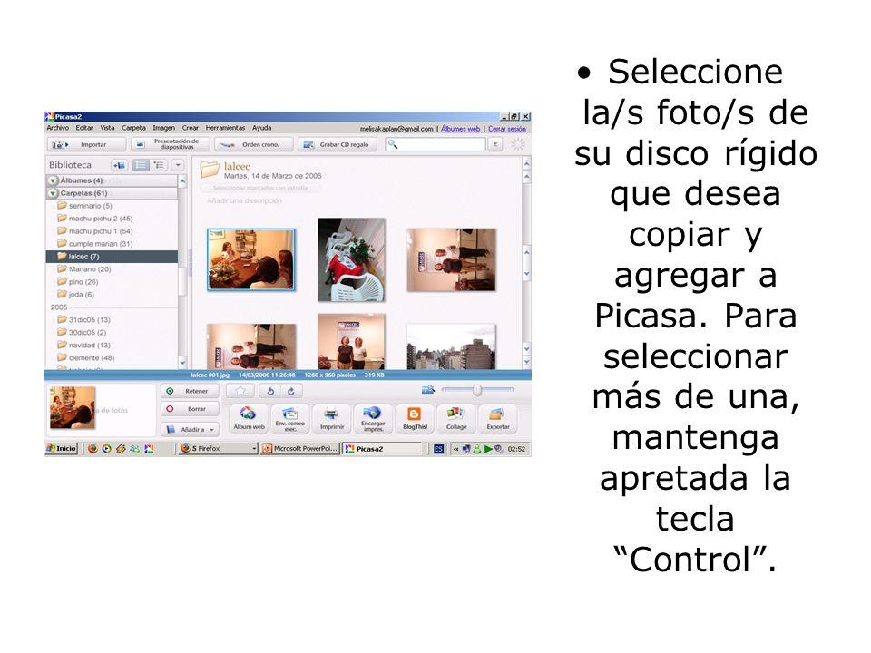 Diríjase al botón azul Launch Picasa para que el programa, una vez instalado en su máquina, exhiba las fotos que Ud.