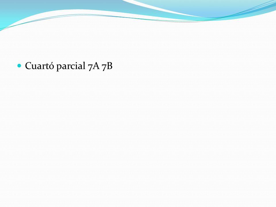 Cuartó parcial 7A 7B