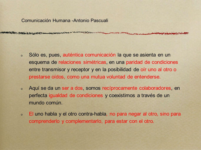 La distinción entre comunicación e información está determinada por el coeficiente de comunicabilidad de los polos presentes en la relación.