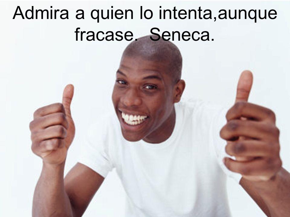 Admira a quien lo intenta,aunque fracase. Seneca.