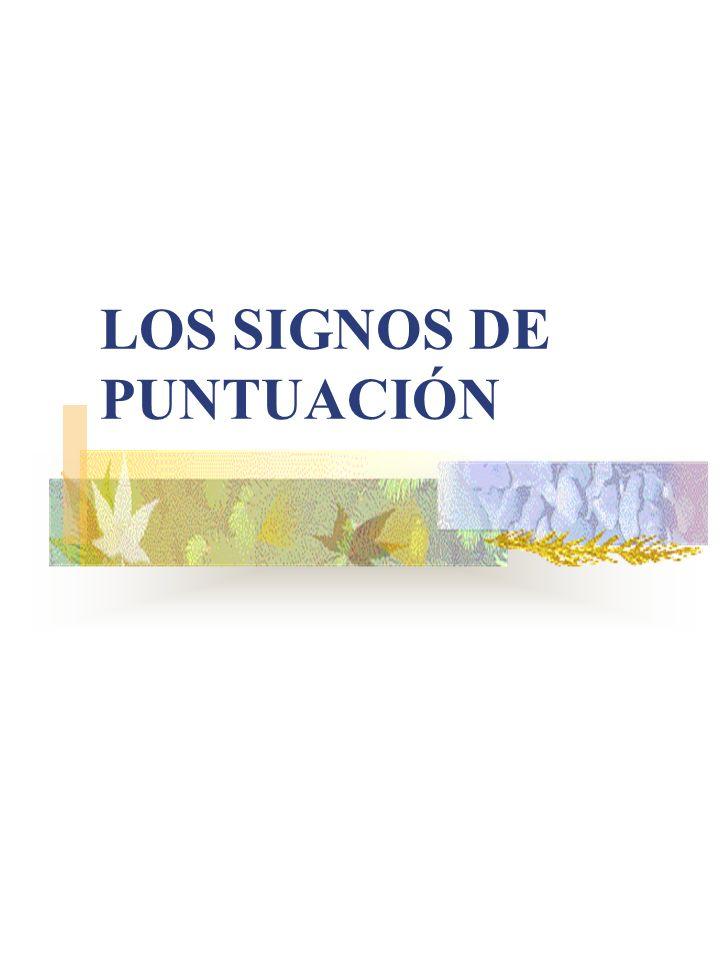 Los signos de puntuación son los signos auxiliares que se usan para señalar la entonación y las pausas en todo escrito.