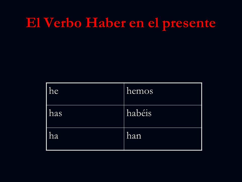¿Qué es el presente perfecto? El presente perfecto está formado por la combinación del verbo auxiliar haber y el participio pasado. Por regla general,