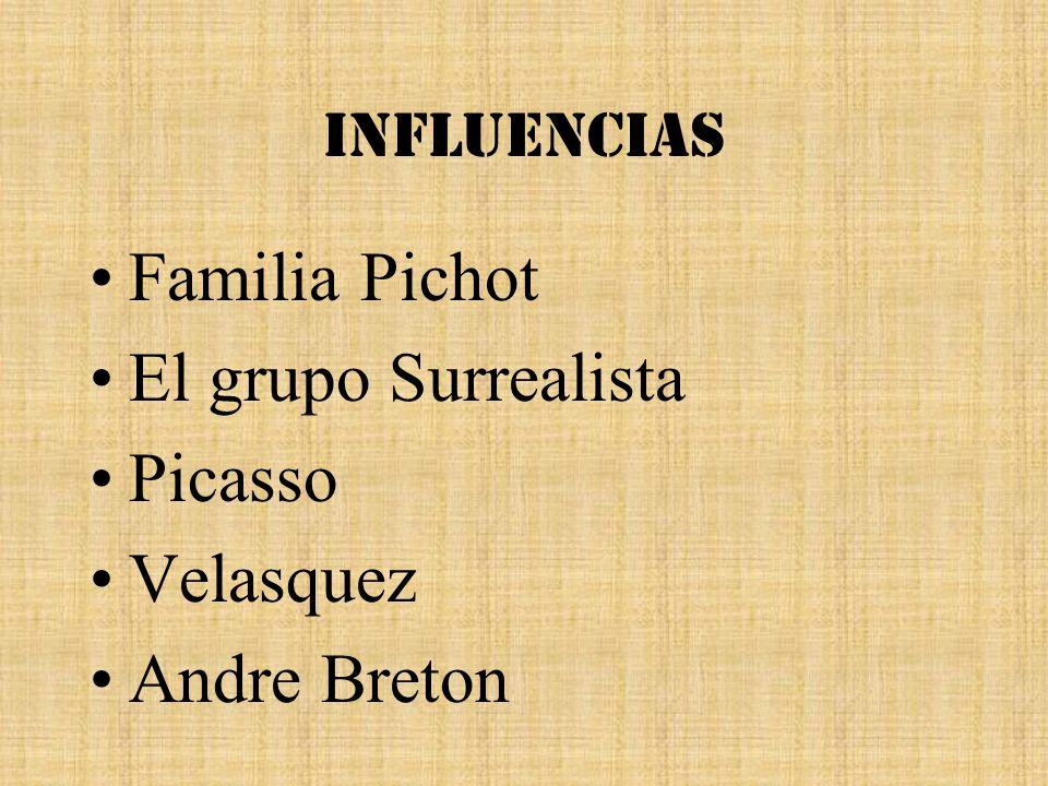 Influencias Familia Pichot El grupo Surrealista Picasso Velasquez Andre Breton