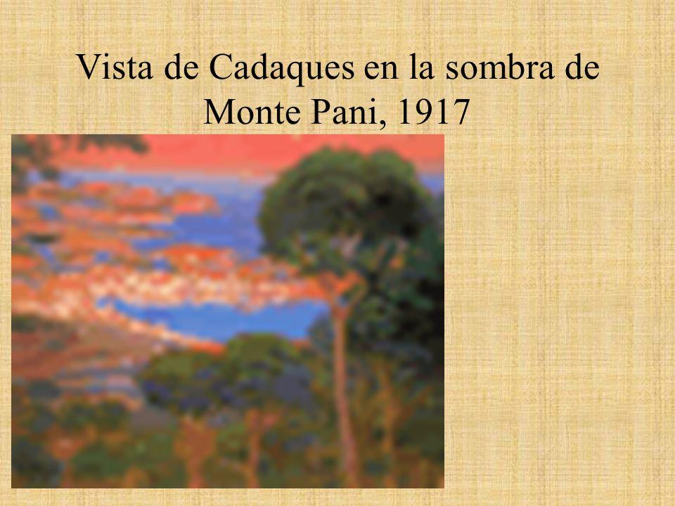Vista de Cadaques en la sombra de Monte Pani, 1917