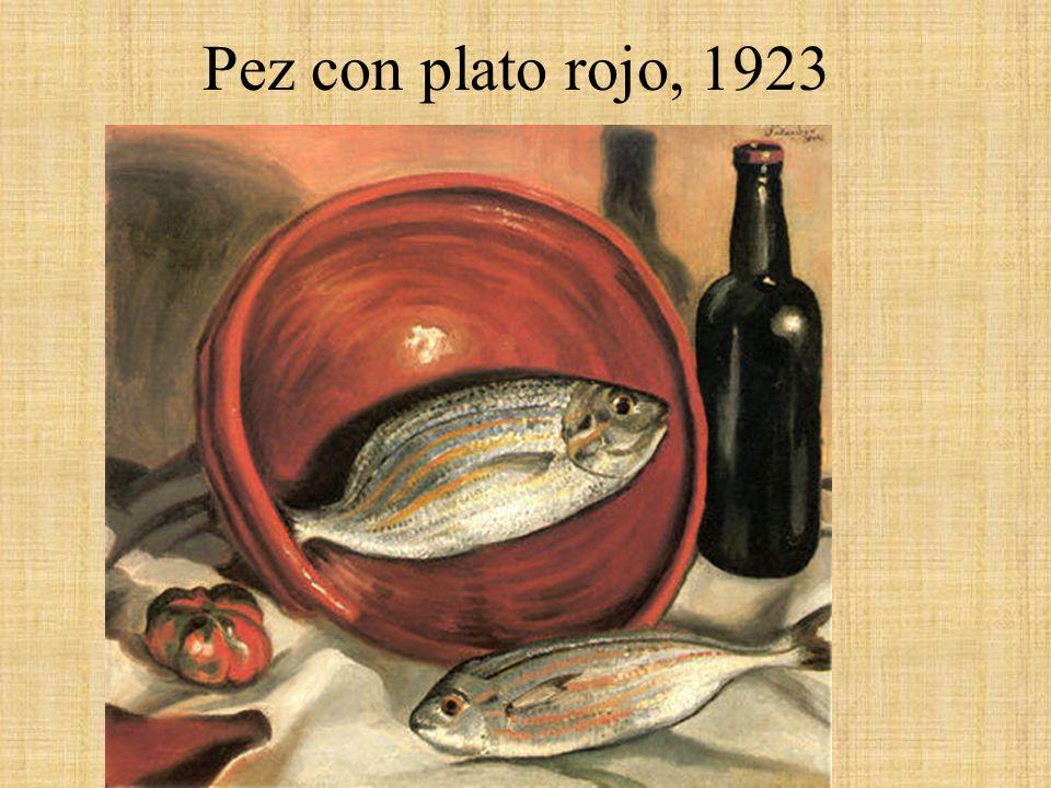 Pez con plato rojo, 1923