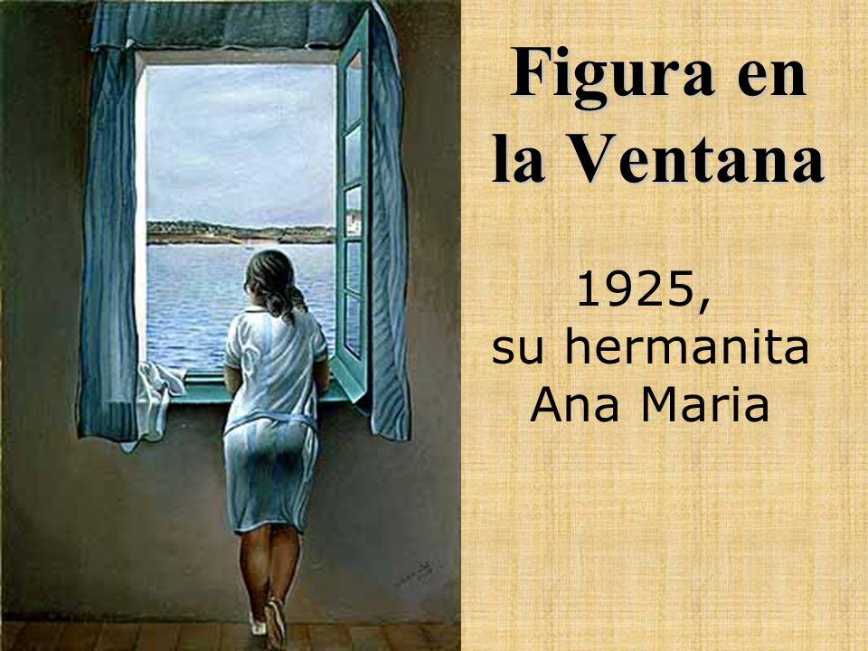 Figura en la Ventana 1925, su hermanita Ana Maria