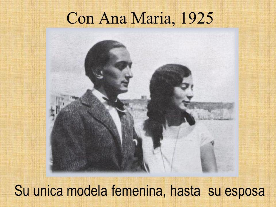 Con Ana Maria, 1925 Su unica modela femenina, hasta su esposa