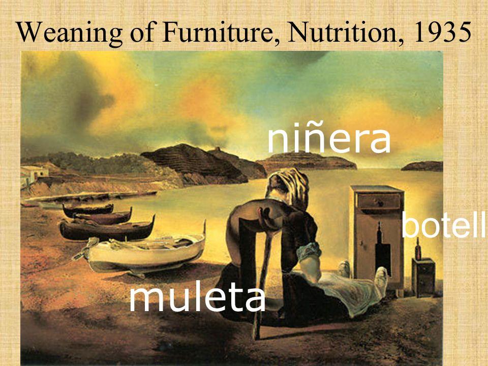 Weaning of Furniture, Nutrition, 1935 muleta niñera botella