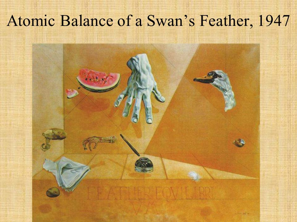 Atomic Balance of a Swans Feather, 1947