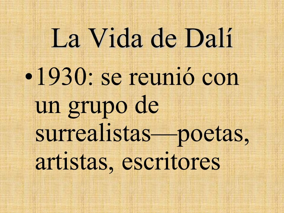 Los Surrealistas, 1933