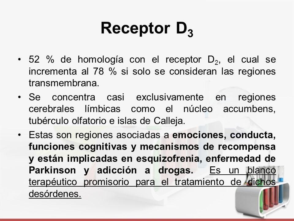 Receptor D 3 Acopla eficiente y específicamente a G o1, pero no a los otros subtipos.
