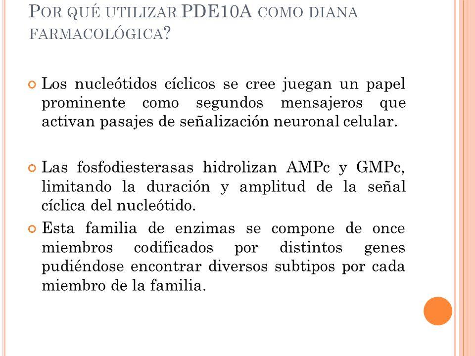 P OR QUÉ UTILIZAR PDE10A COMO DIANA FARMACOLÓGICA .