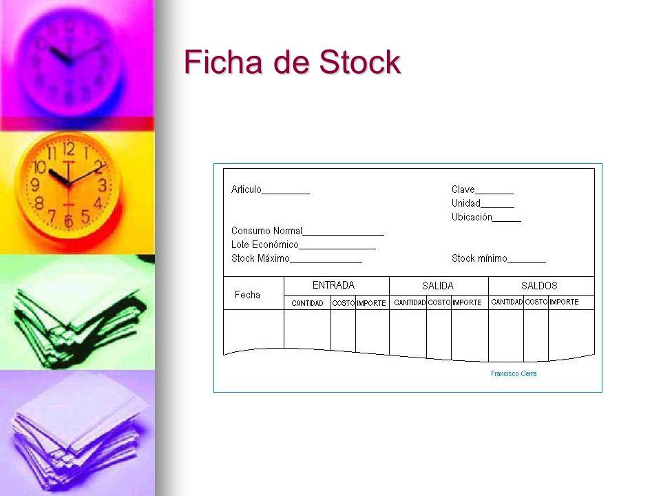Ficha de Stock