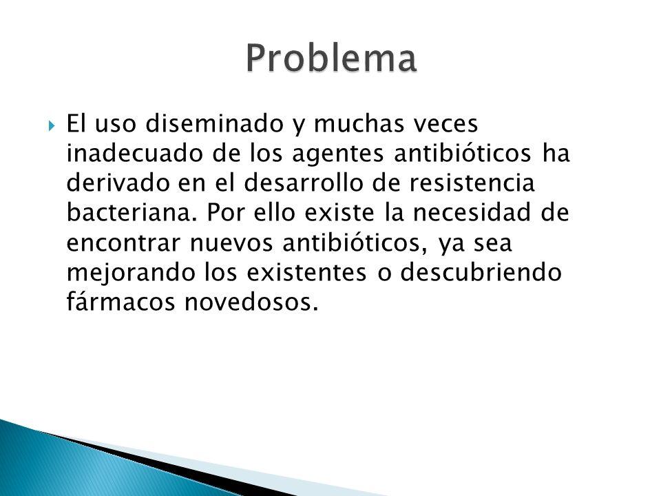 El uso diseminado y muchas veces inadecuado de los agentes antibióticos ha derivado en el desarrollo de resistencia bacteriana. Por ello existe la nec