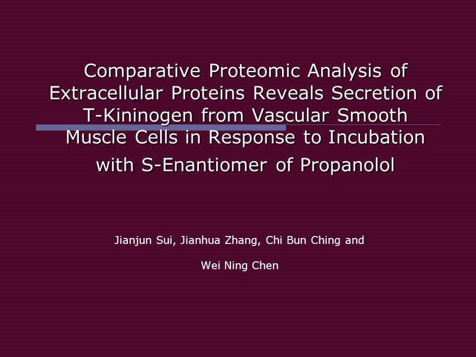 Hipótesis El enantiómero S del propanolol provoca una mayor secreción protéica en las células de músculo liso vascular con respecto al enantiómero R.