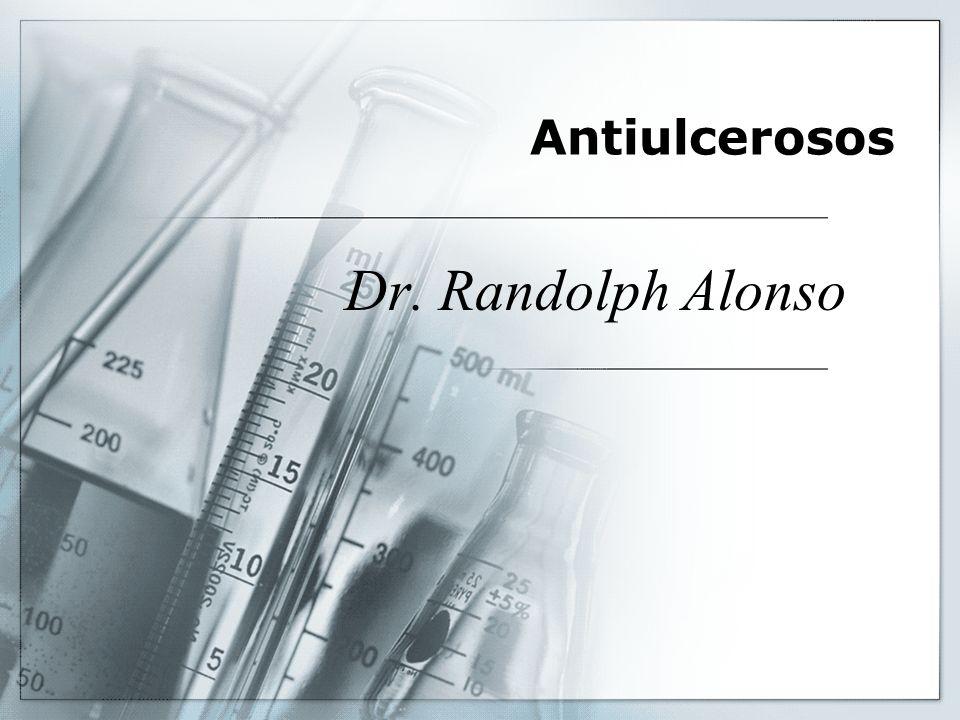 Antiulcerosos En base a los conocimientos sobre los mecanismos que contribuyen al origen de las úlceras, se han creado diversas estrategias terapéuticas, entre ellas la supresión de los factores agresivos que contribuyen a la acidificación, mediante el empleo de antiácidos, antagonistas del receptor H 2, inhibidores de la bomba de H+, K+, ATPasa.