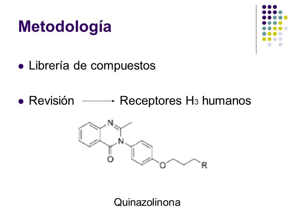 Librería de compuestos Revisión Receptores H 3 humanos Quinazolinona
