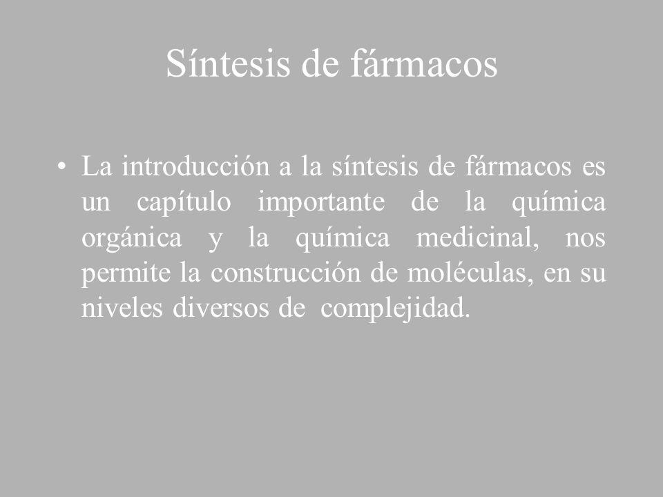 Síntesis de fármacos La introducción a la síntesis de fármacos es un capítulo importante de la química orgánica y la química medicinal, nos permite la