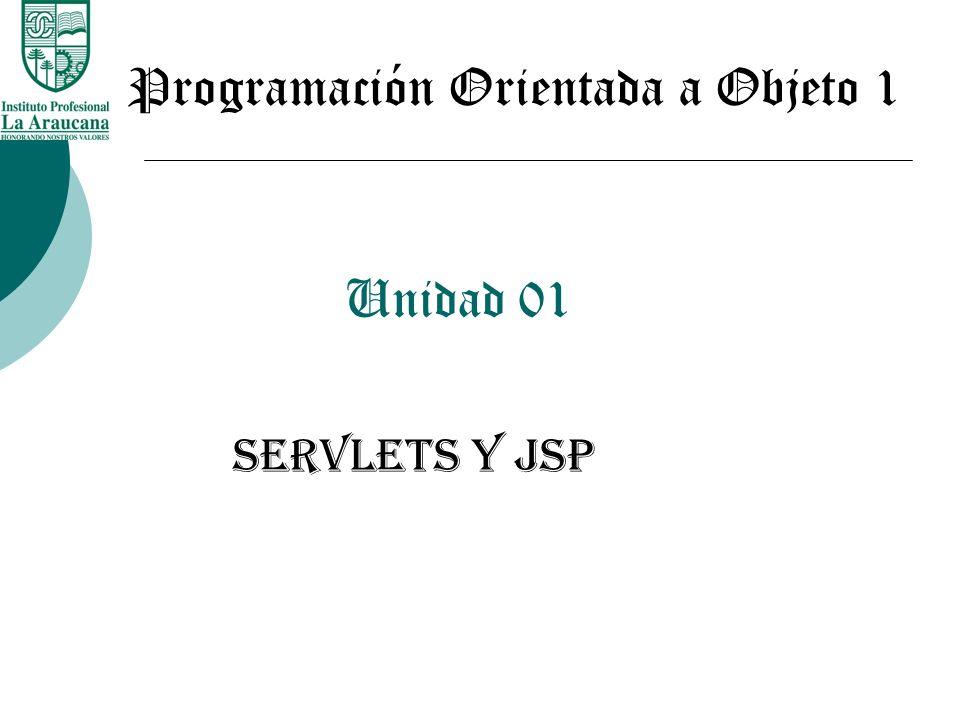 Unidad 01 SERVLETS Y JSP Programación Orientada a Objeto 1