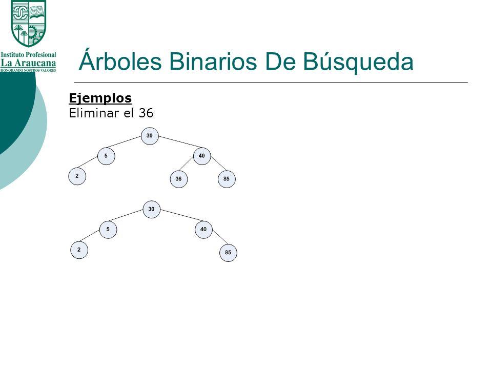 Árboles Binarios De Búsqueda Ejemplos Eliminar el 60