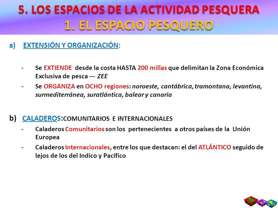 5. LOS ESPACIOS DE LA ACTIVIDAD PESQUERA 5. LA ACUICULTURA