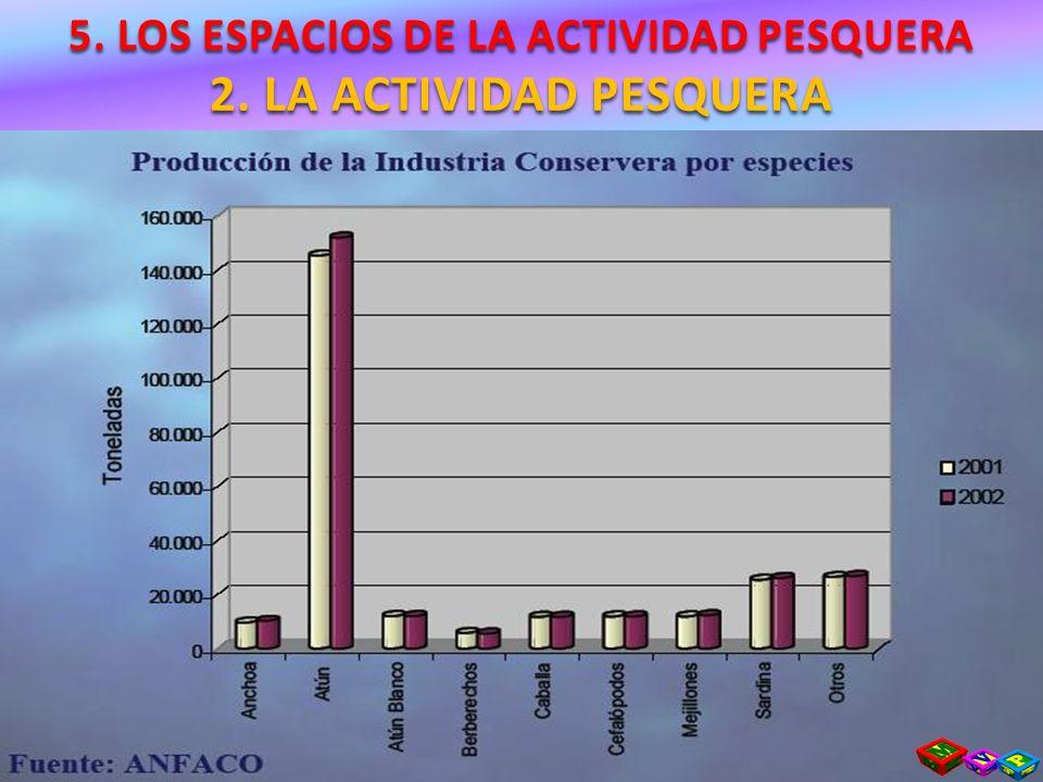 5. LOS ESPACIOS DE LA ACTIVIDAD PESQUERA 2. LA ACTIVIDAD PESQUERA