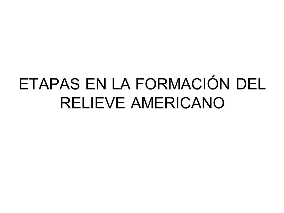 ETAPAS EN LA FORMACIÓN DEL RELIEVE AMERICANO