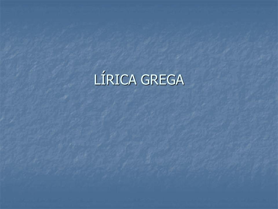 LÍRICA GREGA
