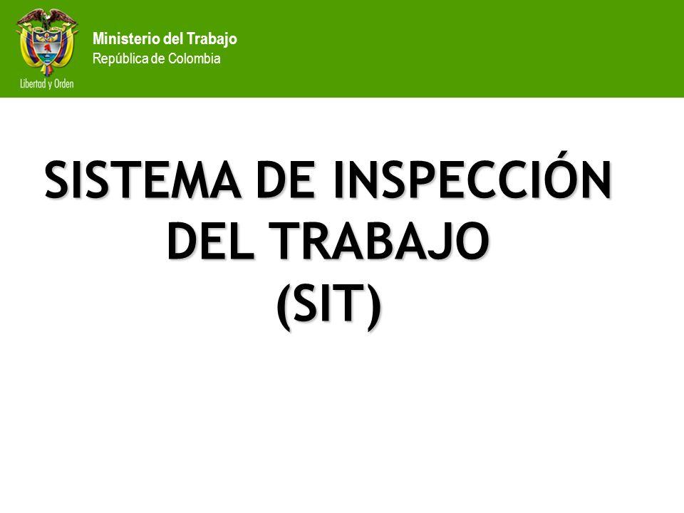 Ministerio del Trabajo República de Colombia SISTEMA DE INSPECCIÓN DEL TRABAJO (SIT)