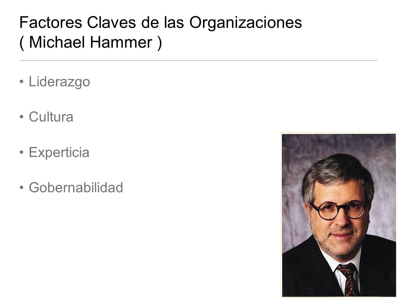 Factores Claves de las Organizaciones ( Michael Hammer ) Liderazgo Cultura Experticia Gobernabilidad
