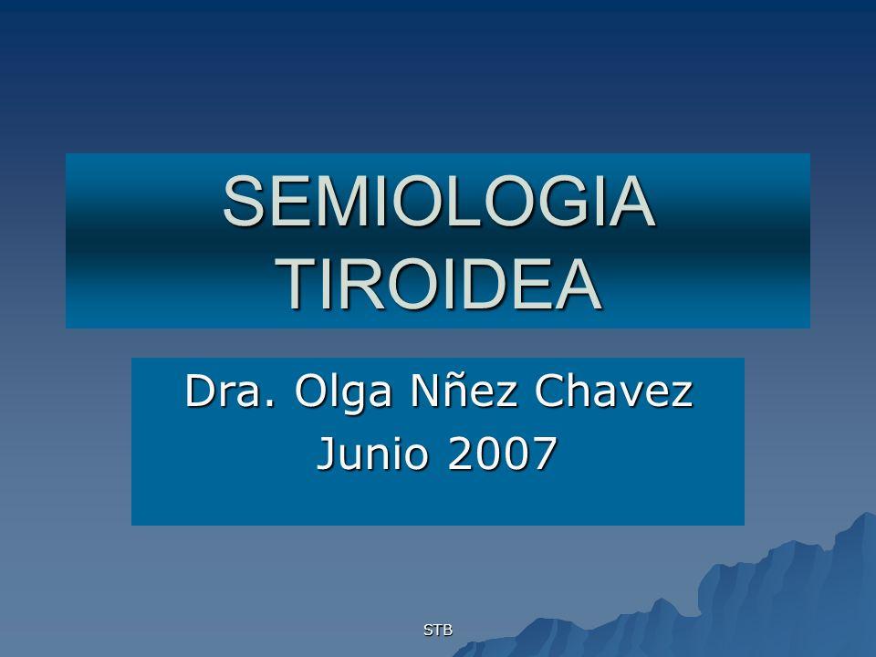 STB SEMIOLOGIA TIROIDEA Dra. Olga Nñez Chavez Junio 2007