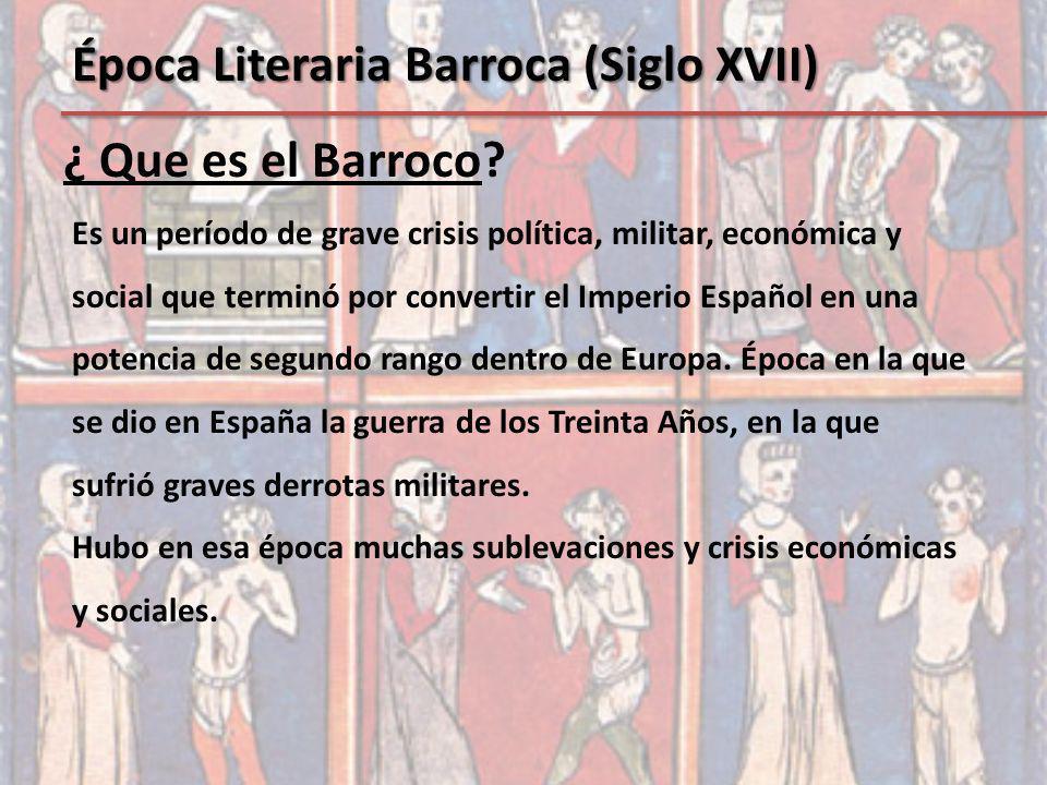 Es un período de grave crisis política, militar, económica y social que terminó por convertir el Imperio Español en una potencia de segundo rango dent
