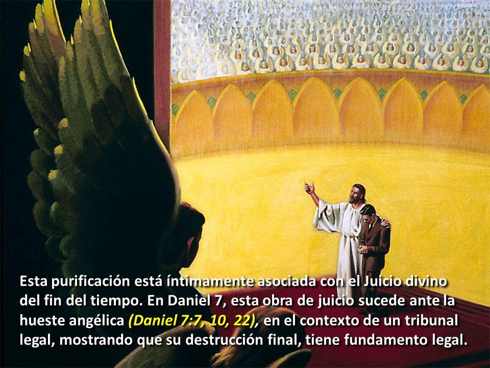 La obra de mediación de Cristo alcanza su clímax en la purificación del Santuario celestial, que es su obra de Juicio.