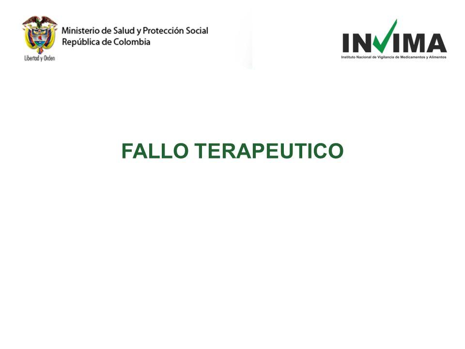 FALLO TERAPEUTICO