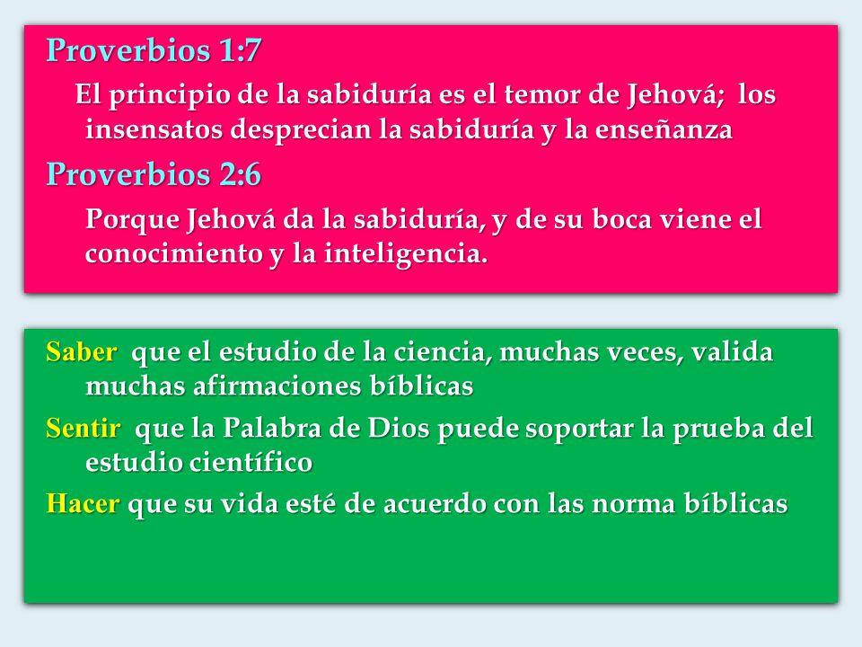 Proverbios 1:7 El principio de la sabiduría es el temor de Jehová; los insensatos desprecian la sabiduría y la enseñanza El principio de la sabiduría