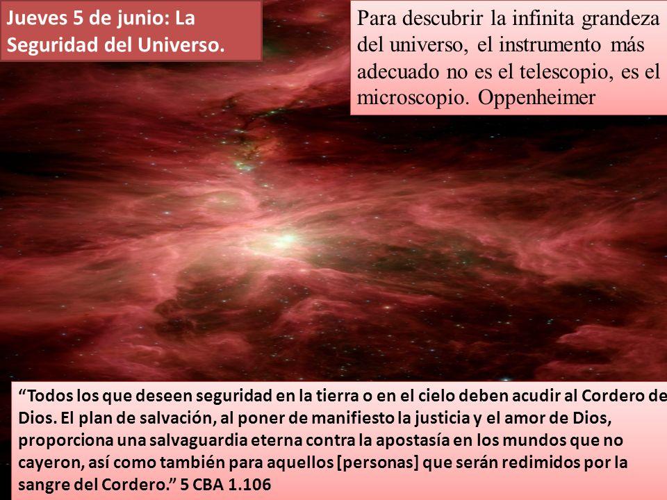 Jueves 5 de junio: La Seguridad del Universo.