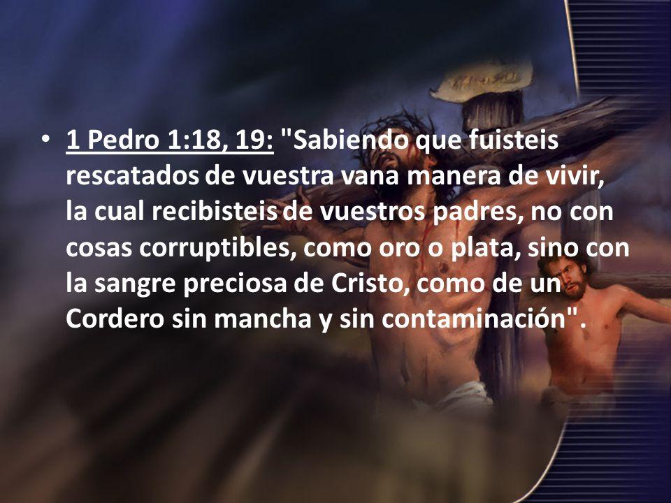 1 Pedro 1:18, 19: