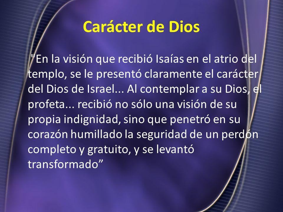 Carácter de Dios