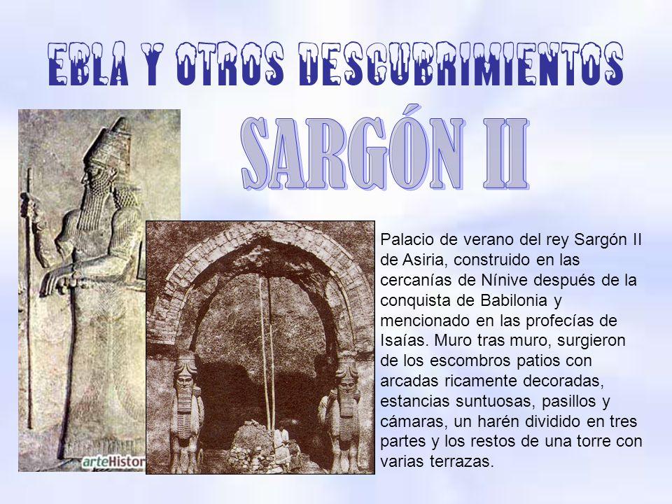 Palacio de verano del rey Sargón II de Asiria, construido en las cercanías de Nínive después de la conquista de Babilonia y mencionado en las profecía