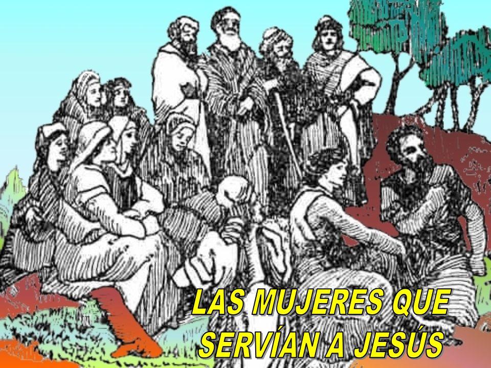 Y algunas mujeres que habían sido sanadas de espíritus malos y de enfermedades; María, que se llamaba __________ … ______ mujer de Chuza, intendente de Herodes; y ________ y otras mujeres le servían de sus bienes (Lucas, 8: 2-3) Habían seguido a Jesús desde Galilea, sirviéndole, entre las cuales estaban _____ Magdalena; _____ la madre de Jacobo y José; _______ la madre de los hijos de Zebedeo (Mateo, 27: 55-56, y Marcos, 15: 40-41) Magdalena 1.Algunas de estas mujeres eran ricas y tenían gran influencia.