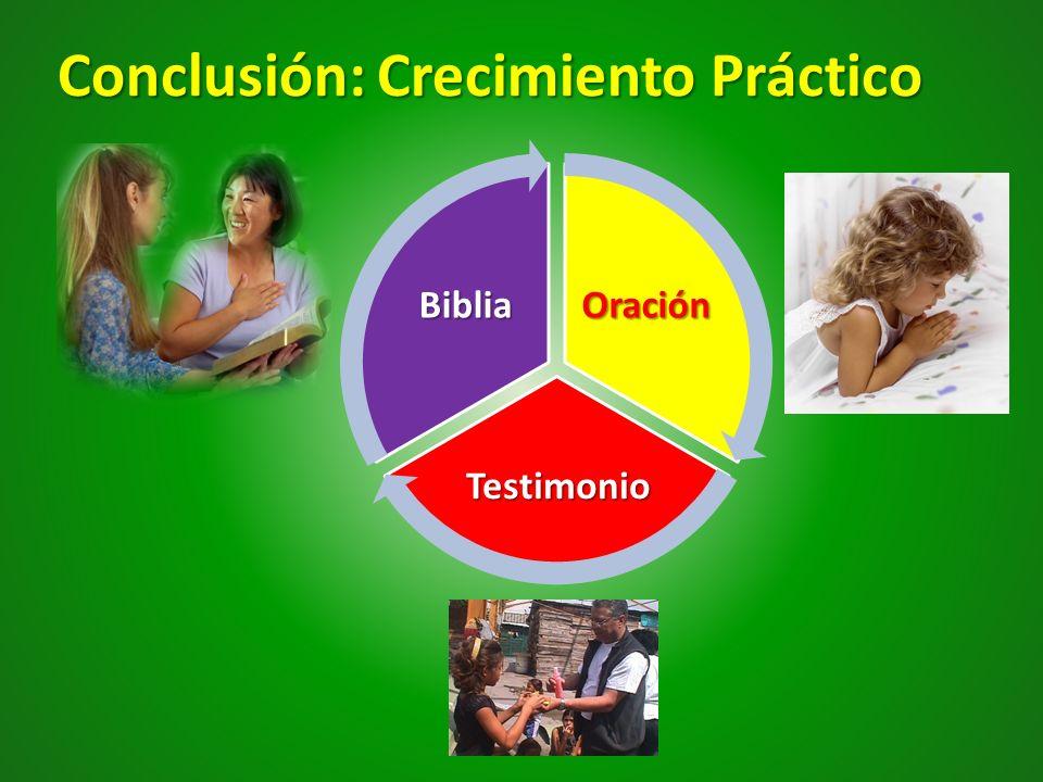 Conclusión: Crecimiento Práctico Oración Testimonio Biblia