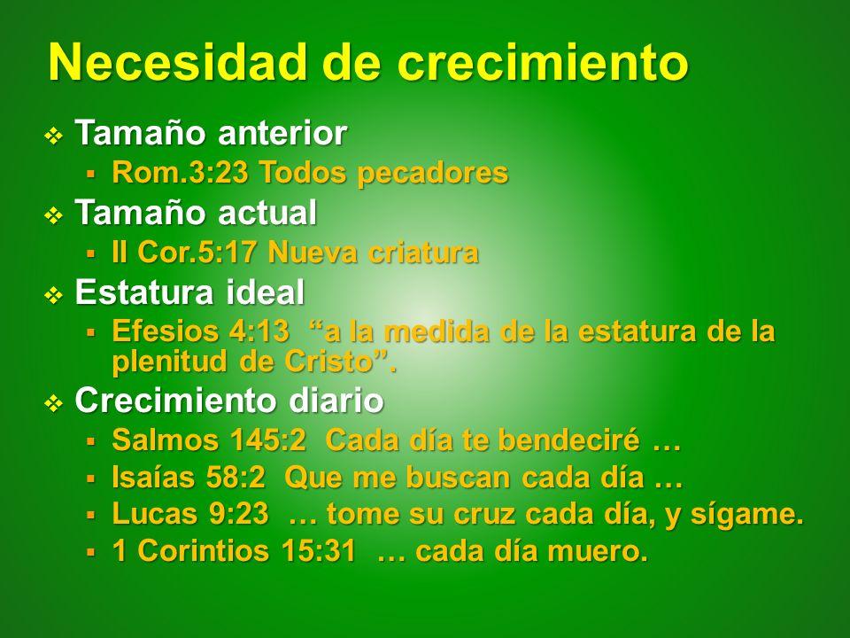 Tamaño anterior Tamaño anterior Rom.3:23 Todos pecadores Rom.3:23 Todos pecadores Tamaño actual Tamaño actual II Cor.5:17 Nueva criatura II Cor.5:17 N