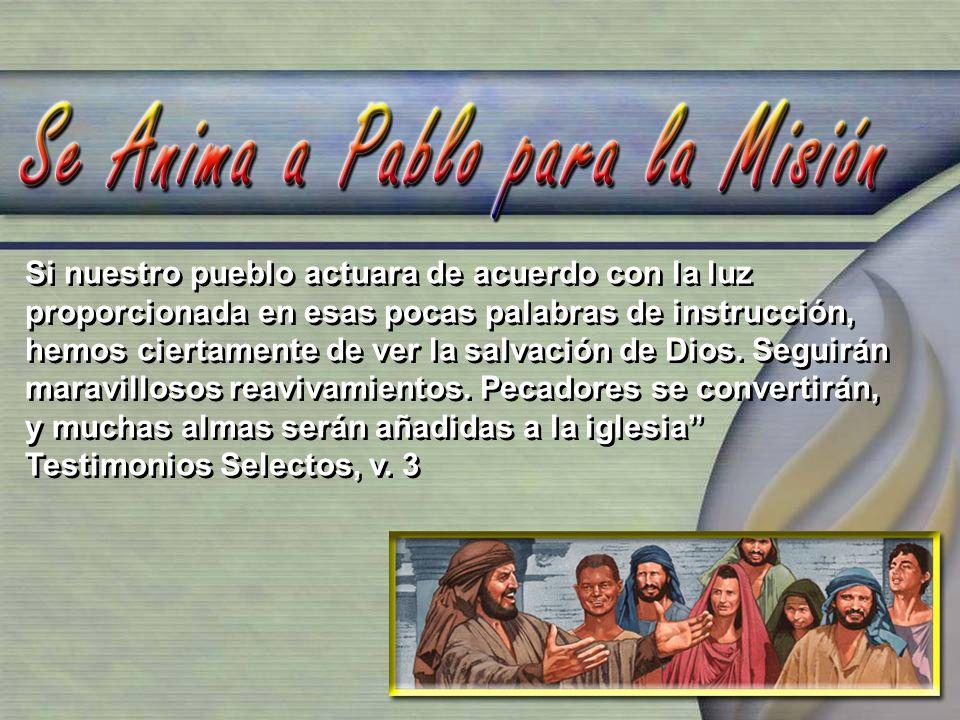 Si nuestro pueblo actuara de acuerdo con la luz proporcionada en esas pocas palabras de instrucción, hemos ciertamente de ver la salvación de Dios. Se