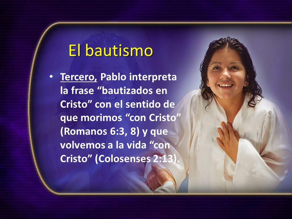 Venciendo el pecado Vivir sin pecar, o vencer el pecado, esto es posible gracias al poder del Espíritu Santo recibido en ocasión de nuestro bautismo (Gálatas 3:27, 29; Colosenses 2:12).