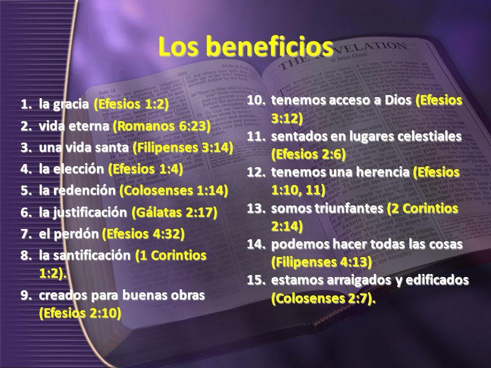 En unión con El La frase también se usa para indicar que todo lo que el cristiano hace es hecho en unión con él: nos regocijamos en él (Filipenses 3:1), nos jactamos y gloriamos en él (Romanos 15:17), nos mantenemos firmes en él (Filipenses 4:1), somos fuertes en él (Efesios 6:10) y hacemos obras de fe en él (Gálatas 5:6).
