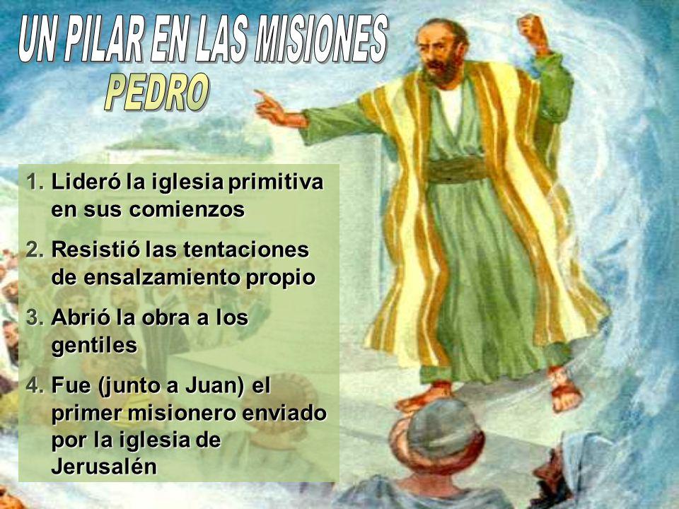 Pedro tomó el liderazgo del pequeño grupo de creyentes y se preocupó de ensalzar siempre a Jesús; tanto como el autor de los milagros, como Aquel que únicamente merece adoración