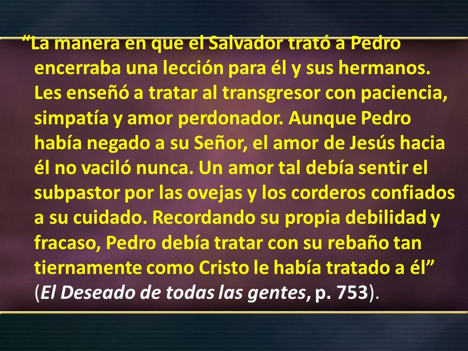 III.- PEDRO EN LAS ESPISTOLAS 1.-Pedro en sus epístolas, se muestra como un pastor.