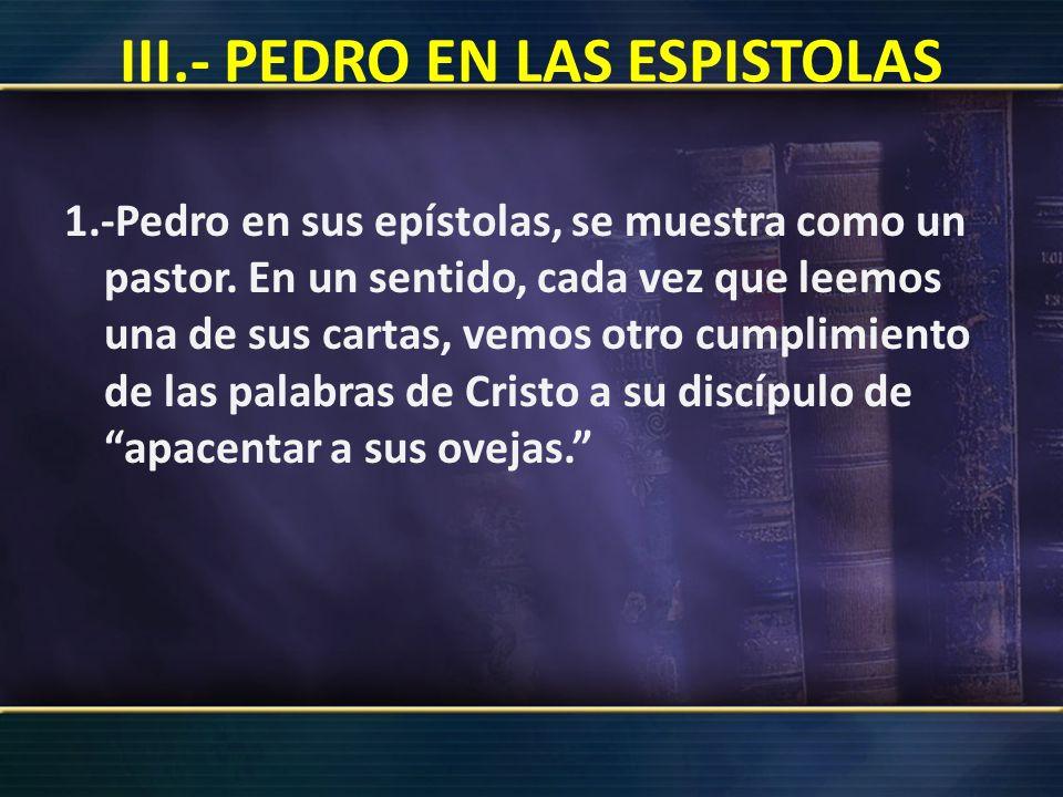 Características pastorales a.- Comprensión del sacrificio en la cruz (1 Pedro 2:18-21) para la redención del ser humano.