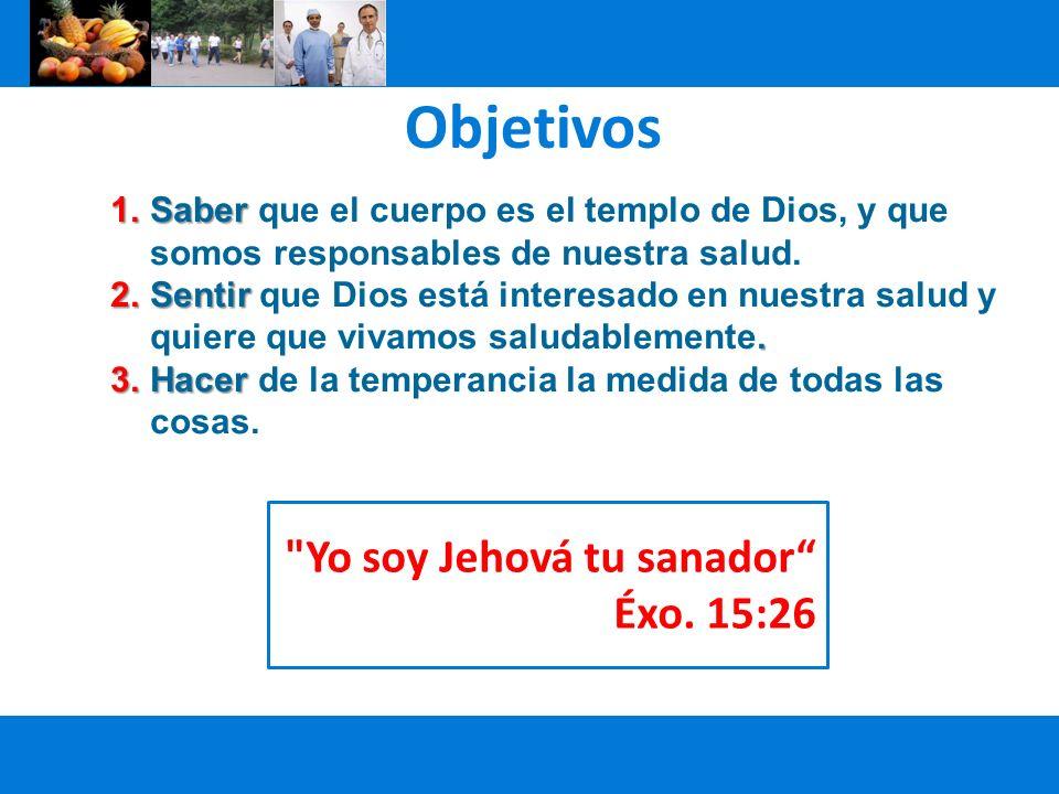 1.Saber 1.Saber que el cuerpo es el templo de Dios, y que somos responsables de nuestra salud. 2.Sentir. 2.Sentir que Dios está interesado en nuestra