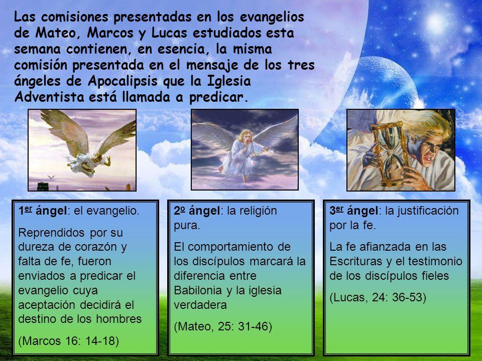 Las comisiones presentadas en los evangelios de Mateo, Marcos y Lucas estudiados esta semana contienen, en esencia, la misma comisión presentada en el